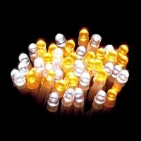 LEDストレートライト 100球 ホワイト/ゴールド球 グリーンコード