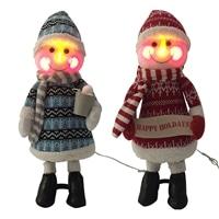 LEDスタンドスノーマンブルー&レッド