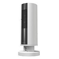 ドウシシャ ピエリア デスクファン USB充電ポート付デスクタワーファン FTV-401(WH)