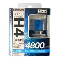 【店舗限定】アークス GRX-61 ホワイト H4ハロゲンバルブ 4800K(GRX-61)