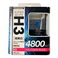 【店舗限定】アークス GRX-68 スーパーホワイト H3ハロゲンバルブ 4800K(GRX-68)