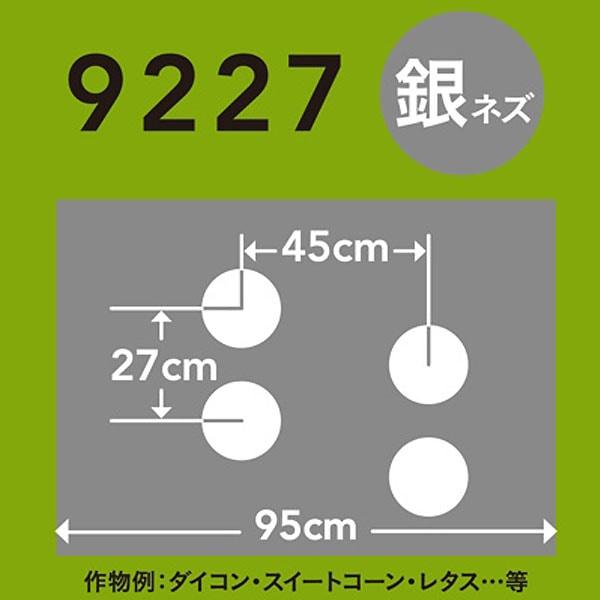 ホールマルチ 銀ネズ 9227×200m 60φ
