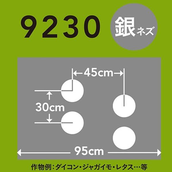 ホールマルチ 銀ネズ 9230×200m 60φ
