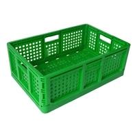 <ケース販売用単品JAN> 折りたたみコンテナ 緑
