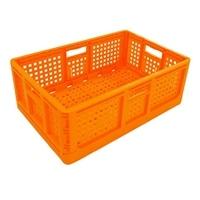 <ケース販売用単品JAN> 折りたたみコンテナ オレンジ