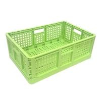 <ケース販売用単品JAN> 折りたたみコンテナ 薄緑