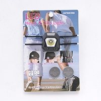 キャプテンスタッグ UK-3010 ミニデコ LEDヘッド&クリップライト(ブラック)