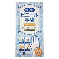 ビニール使い捨て手袋 M 100枚