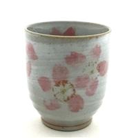 寿司湯呑 粉引桜 ピンク