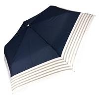 オールシーズン対応折傘 ボーダー 50cm 紺