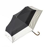 晴雨兼用折り傘 50cm バイカラーブラック