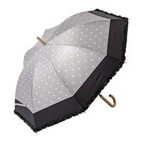 晴雨兼用長傘 55cm ドットグレー
