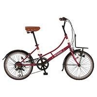 【自転車】【全国配送】《ルノー》ミニベロ・小径車 206L Classic-N レッド【別送品】