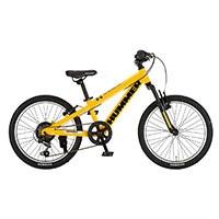 【自転車】【全国配送】《ハマー》ジュニアマウンテンバイク 206-SV イエロー【別送品】