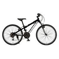 【自転車】【全国配送】《ハマー》ジュニアマウンテンバイク 2418-SV ブラック【別送品】