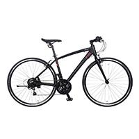 【自転車】《ジック》マセラティ MASERATI AL-CRB7021 urban 700型 クロスバイク 外装21段 マセラティブラック