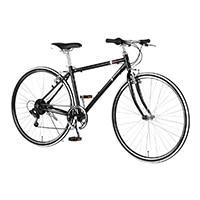 【店舗限定】【自転車】《ルノー》700C ルノーアルミ7006ライト BK