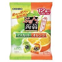 オリヒロ ぷるんと蒟蒻ゼリー マスカットオレンジ 12粒