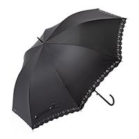 晴雨兼用長傘 60cm ブラック
