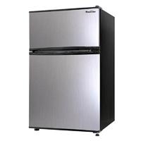 A-Stage 2ドア冷凍冷蔵庫 90L シルバー ARM-90L02SL