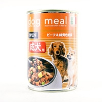 ドッグミール缶 角切りビーフ&緑黄色野菜400g