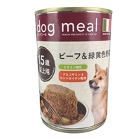 Pet's One ドッグミール缶 ビーフ&緑黄色野菜 15歳以上用 400g