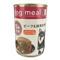 Pet's One ドッグミール缶 ビーフ&緑黄色野菜 13歳以上用 400g