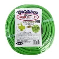 コーワ スーパーソフト延長コード でか太電線 三ツ口 15A 10m 緑
