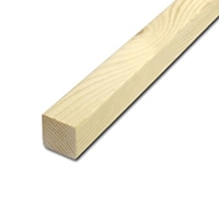 【加工可】岡元木材 特選 ツーバイ材 2×2 3F(約)38×38×910mm【別送品】【要注文コメント】