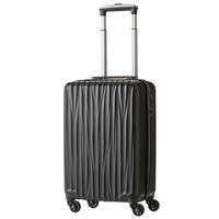 ハードケース ファスナータイプスーツケース 32L ブラック 5202-47-BK