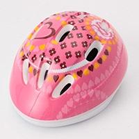 吸汗速乾サイクルヘルメット子供用 ピンク M