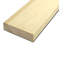 【加工可】岡元木材 特選 ツーバイ材 2x6 4F (約)38×140×1200mm【別送品】【要注文コメント】