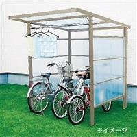 自転車置き場 DIYポートII ポリカ波 ステングレー 4尺【別送品】