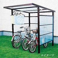 自転車置き場 DIYポートII 塩ビ波板 ブロンズ 4尺【別送品】