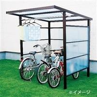 自転車置き場 DIYポートII ポリカ板 ブロンズ 4尺【別送品】