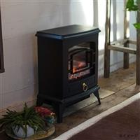 暖炉型ヒーター1200/600W ブラック