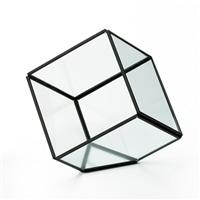 ジオメティックガラス キューブL