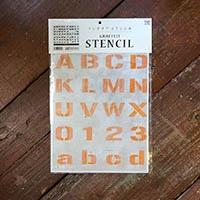 【店舗限定】グラフィティーステンシル アルファベット FONT2-A4Sサイズ SS-L2A