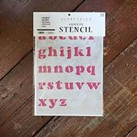 【店舗限定】グラフィティーステンシル アルファベット FONT1-A4Sサイズ 小文字 SS-L1S-A4-SL