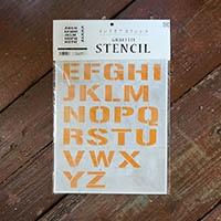 【店舗限定】グラフィティーステンシル アルファベット FONT2-A4Sサイズ 大文字 SS-L2S-A4-CL