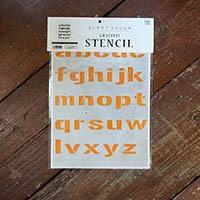 【店舗限定】グラフィティーステンシル アルファベット FONT2-A4Sサイズ 小文字 SS-L2S-A4-SL