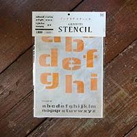 【店舗限定】グラフィティーステンシル アルファベット FONT2-A4Mサイズ 小文字 SS-L2M-A4-SL