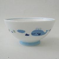 子供用食器 茶碗クジラ ブルー 小