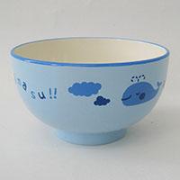 子供用食器 汁椀クジラ ブルー 小