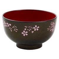 汁椀 洗浄椀 京型 きらめき桜(黒)