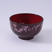 汁椀 洗浄椀 京型 きらめき桜(朱)