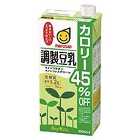 【ケース販売】マルサンアイ 調製豆乳カロリー45%オフ 1000ml×6本