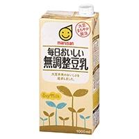 【ケース販売】マルサン 毎日おいしい無調整豆乳 1000ml×6本