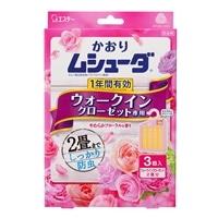 エステー かおりムシューダ 1年間有効 ウォークインクローゼット専用 3個入 やわらかフローラルの香り