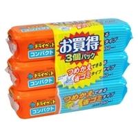エステー ドライペット コンパクト 本体 3個入り 除湿剤(湿気取り)